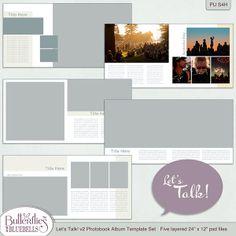 Let's Talk!  Photobook Templates