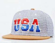 Shop for on Etsy, the place to express your creativity through the buying and selling of handmade and vintage goods. Cotton Hat, Snapback Cap, Usa Flag, Blue Stripes, Baseball Cap, Fashion Caps, Embroidery, Wool, Unisex