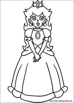Free Printable Super Mario Bros Princess Peach Coloring Page