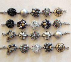 Set of 4 greige gray pearl black diamond by ChicMaddiesBoutique