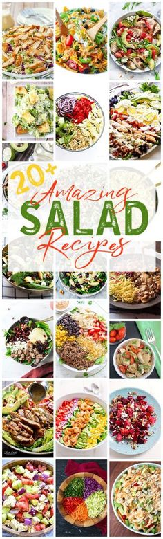 Take your salads to the next level with these delicious salad recipes! It's easy to eat healthy when you can create salad masterpieces like these!