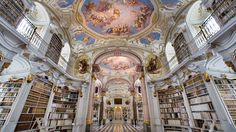 Admont Abbey Library, Austria, is the largest monastic library in the world, completed in 1776 (Photos: Jorge Royan) Tianjin, Beautiful Library, Dream Library, City Library, Central Library, Library Ideas, College Library, Baroque Architecture, Beautiful Architecture