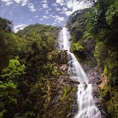 Tasmania's highest waterfall, the 104-metre Montezuma Falls. The three-hour return walk to the falls begins at Williamsford, two kilometres south of the West Coast mining town of Rosebery, and follows the historic route of the former North East Dundas Tramway. #rosebery #tasmania #discovertasmania Image Credit: David Copithorn