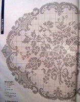 Kira crochet: Scheme no. Crochet Bra, Filet Crochet, Crochet Doilies, Monochrome, White Crosses, Hand Embroidery Patterns, Cross Stitch Charts, Baby Knitting, Tatting