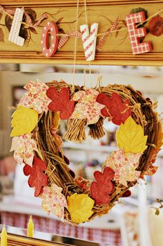 Sew a little love: Autumn leaves...and blessings abundant!