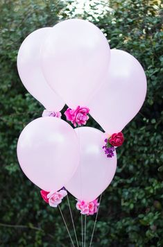 Fantasy Flower Balloons. Easy and elegant DIY party decorations!