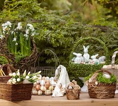 Forget the plastic green grass! Our Easter baskets in themselves make beautiful presents but filled with moss, florals or chocolate treats, they make the ultimate gift.