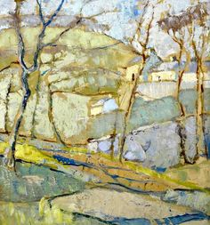 Anne Redpath (Scottish, 1895-1965)         Cornflowers         Border Landscape         A Borders River Landscape, Lyon and Turnbull, Edinb...