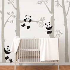 Tree with Pandas Wall Decal, Panda Wall Decal, Panda Tree for Baby Nursery, Kids or Children Room Decals Baby Bedroom, Baby Boy Rooms, Baby Room Decor, Baby Boy Nurseries, Kids Bedroom, Nursery Wall Decals, Nursery Room, Wall Decals For Kids, Baby Room Wall Stickers