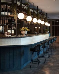 We Love The Lighting Cantilevered From The Bar Gantry Creating Such A  Dreamy Glow. U2022 U2022 U2022 U2022 U2022 #bar #restaurant #drinks #interiors #bartender ...