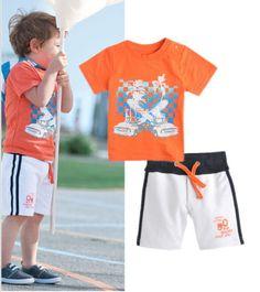 Pop-Fashion-Baby-Kids-Boys-Summer-Tees-T-shirt-Shorts-2PCS-Outfits-Clothes-2-7Y **************************************** eBay: סט קיץ חולצה ומכנסיים 100% כותנה מ-26 ₪ + משלוח חינם! לילדים בגיל 2-7