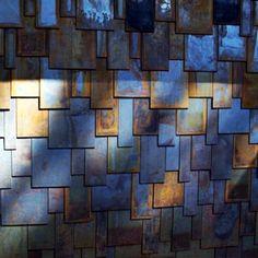 corten-steel-siding-from-mountainroof shingle look Steel Siding, Steel Cladding, Steel Barns, Wood Shingles, Steel Roofing, House Cladding, House Siding, Wood Siding, Metal Shop Building