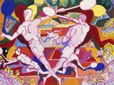 Le Tennis, 1965 (oil on canvas), Lapicque, Charles (1898-1988) / Private Collection / Photo © Christie's Images / Bridgeman Images