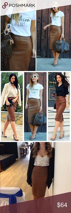 | Host Pick | Zara Faux Leather Pencil Skirt SZ M NWT never worn  Zara Skirts Pencil