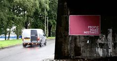 #PeopleMakeMistakes #Glasgow #LandscapePosters #Concept #Conceptual #Conceptualideas #Experiential #Subliminal #Interactive #Flyposting  People Make Mistakes, Making Mistakes, Experiential, Glasgow, How To Make, Concept, Make Mistakes