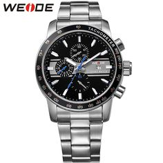 >> Click to Buy << WEIDE Men's Sports Quartz Watch Blue Color Analog Complete Calendar Stainless Steel Watchband Waterproof Military Men Wristwatch #Affiliate