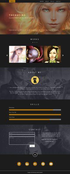 TheKucing Portfolio Website on Behance