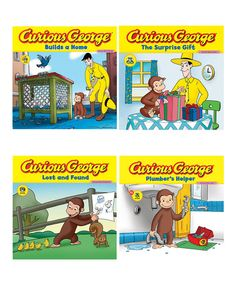 Curious George: Around the House paperback set on Zulily.