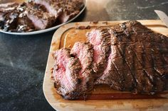 grilled flank steak with soy-honey marinade