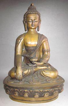 "13"" Old Tibet Tibetan Bronze Shakyamuni Buddha Statue | Collectibles, Religion & Spirituality, Buddhism | eBay!"