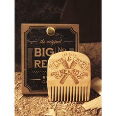 """""""Live & Die By The Beard"""" Big Red's newest beard comb. Available now!  Show your dedication to the beard. Available tomorrow as a kit containing the comb our new matching T-Shirt and wooden sticker. #bigredbeardcombs #beard #beards #bearded #beardoil #beardbalm #beardcomb #woodcomb #mustachewax #beardgang #beardlife #beardlove"""