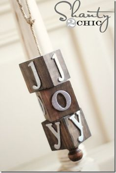 How about this DIY ornament idea, but with vinyl letters?