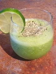 How about a refreshing Lime Green Smoothie topped with Organic Hemp Seeds... : D VeganSoulFood.info