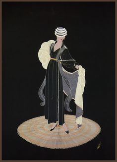Art Deco and Art Nouveau! Art Deco Illustration, Vintage Illustrations, Fantasy Illustration, Fashion Illustrations, Art Deco Artists, Artist Art, Moda Art Deco, Erte Art, Romain De Tirtoff
