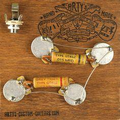 Les Paul vorverdrahtet Set Assembly and Harness Gibson Les Paul, Custom Guitars, Kit, Personalized Items, Grey, Vintage, Ash, Vintage Comics