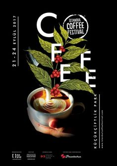 Istanbul Coffee Festival: Fragrant aroma captures city - Daily Sabah Layout Design, Menu Design, Food Design, Coffee Shop Branding, Coffee Packaging, Coffee Artwork, Coffee Advertising, Food Graphic Design, Coffee Tattoos