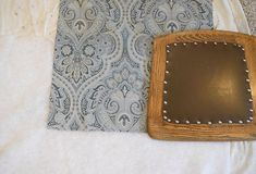 Reupholster Dining Room Chairs Reupholster Dining Room Chairs, Upholstery Nails, Fabric Scissors, Milk Cans, Extra Fabric, Chair Fabric, Blue Fabric, Home Decor Items, Decorative Items