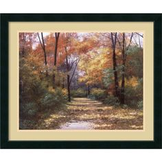 Diane Romanello 'Autumn Road' Framed Art Print - Overstock™ Shopping - Top Rated Prints