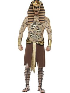 Buy Adult Zombie Pharaoh Costume, available for Next Day Delivery. Be Pharoah-cious and Feared this Halloween with our Ancient Egyptian King Adult Zombie Pharoah Costume. Mens Halloween Fancy Dress, Halloween Costumes For Sale, Halloween Outfits, Adult Costumes, Costumes For Women, Halloween Party, Egyptian Fancy Dress, Egyptian Costume, Fancy Dress Ball