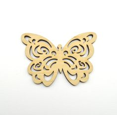 10 Laser cut wooden butterfliies  4 x 3 by AllThisWood on Etsy, $9.90