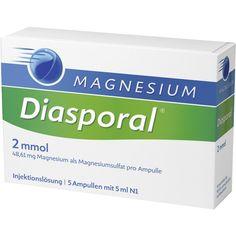 MAGNESIUM DIASPORAL 2 mmol Ampullen:   Packungsinhalt: 5X5 ml Ampullen PZN: 08626756 Hersteller: Protina Pharmazeutische GmbH Preis: 5,30…