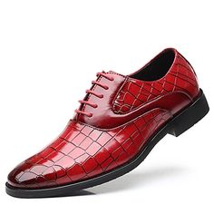 Men's Oxfords Formal Shoes Dress Shoes British Style Plaid Shoes Casual Classic British Daily Party & Evening PU Non-slipping Height-increasing Red White Black Fall Winter 2021 - US $49.34 Formal Shoes, Casual Shoes, Versace Loafers, Style Classique, Formal Dresses For Weddings, Patent Shoes, Plaid Fashion, Derby Shoes, Cool Boots