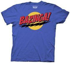 Amazon.com: The Big Bang Theory Bazinga! Men's T-Shirt: Clothing --- Small