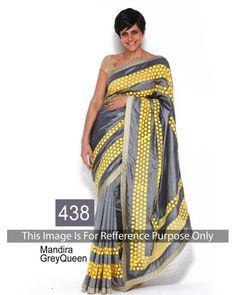 Bollywood Designer Festival Wear Saree Mandira Grey