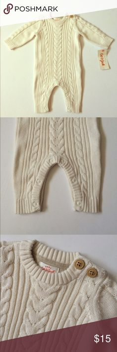 NWT Sweater one piece Cute one piece in a chunky sweater style! Off white color! NWT! One Pieces