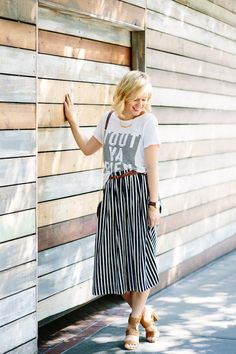 My Style // The Striped Midi Skirt
