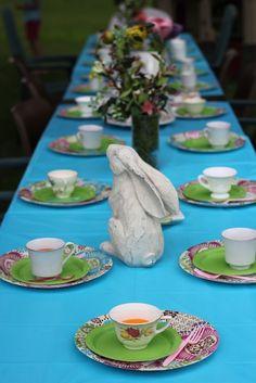 Alice in Wonderland Tea party birthday.