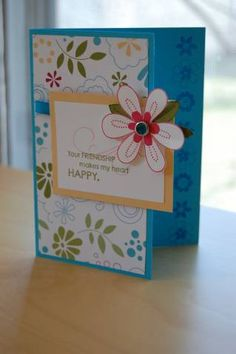 paisley bloom cutie using Stampin Up Friendship Blooms