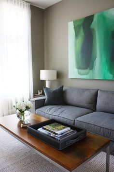 Love the minimalism, colors, etc of this house...may be good for the Kirkland rental.  Gabriel & Grant's Warm Minimalism — House Tour | Apartment Therapy