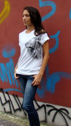 hand painted t-shirts available on Etsy  // concrete jungle //