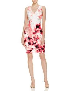 35c5ca84b676 Calvin Klein Floral Print Scuba Dress - 100% Exclusive Women -  Bloomingdale s