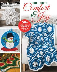 Crochet World - Fall 2016 - Amigurumi Annie's Crochet, Crochet World, Crochet Books, Crochet Chart, Crochet Granny, Crochet Fall, Blanket Crochet, Crochet Squares, Crochet Christmas Trees