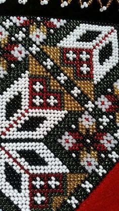 FINN – Perlet belter og bringeduker til Hardangerbunad. Peyote Stitch, Cross Stitch, Hardanger Embroidery, Going Out Of Business, Perler Beads, Beading Patterns, Needlepoint, Norway, Weaving