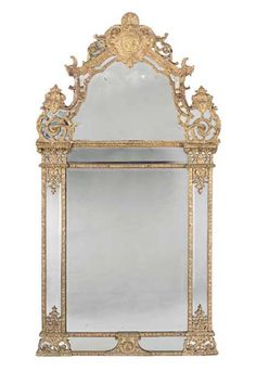 A Regence Giltwood Mirror Circa 1720 Christies...ummm perfect for a mantelpiece for lack of an oil or watercolor? I think so