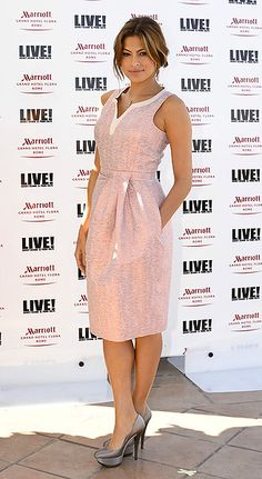 Eva Mendes. Gotta love a dress with pockets! #style #dress #celebstyle