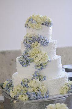 Our wedding cake #hydrangeas